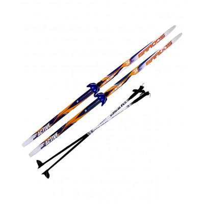 Комплект лыжный  NN75, 160 см, step