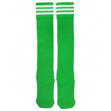 Гетры футбольные 4144, зеленые/белые