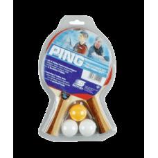 Набор для настольного тенниса Sunflex Ping 2 ракетки+3 мяча 20110