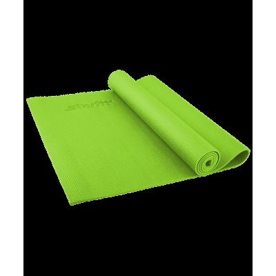 Коврик для йоги FM-101, PVC, 173x61x0,4 см, зеленый