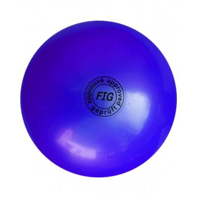 Мяч для художественной гимнастики АВ2801, 19 см, 400 г, синий