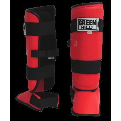 Защита голень-стопа Battle SIB-0014, к/з, красная