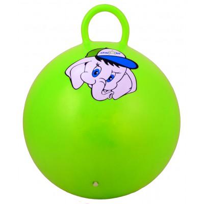 """Мяч-попрыгун """"Слоненок"""" GB-401, 45 см, с ручкой, зеленый"""