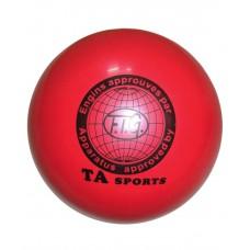 Мяч для художественной гимнастики  T8, 19 см, 400 г, красный