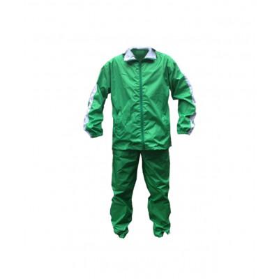 Спортивный ветрозащитный костюм, непромокаемый, зеленый