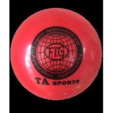 Мяч для художественной гимнастики RGB-101, 15 см, красный