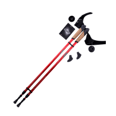 Палки для скандинавской ходьбы Rainbow, 86-140 см, 2-секционные, красные