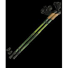 Палки для скандинавской ходьбы Rainbow, 83-135 см, 2-секционные, зелёные/жёлтые