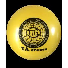Мяч для художественной гимнастики RGB-101, 15 см, желтый