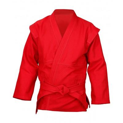 Куртка для самбо 550г/м2 красная р.54