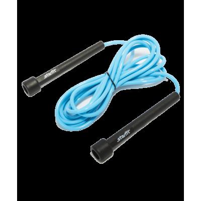 Скакалка RP-101 ПВХ с плаcтиковой ручкой, синяя, 3 м