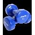 Гантель виниловая DB-101 4 кг, темно-синяя