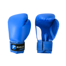 Перчатки боксерские детские, 4oz, к/з, синий