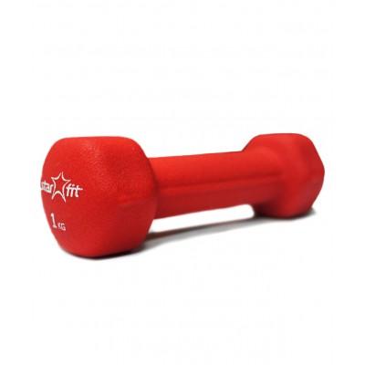 Гантель неопреновая DB-201 1 кг, красная