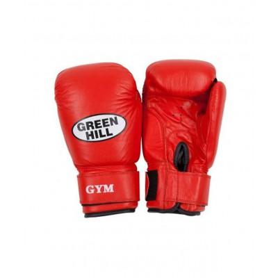 Перчатки боксерские GYM BGG-2018, 14oz, кожа, красные