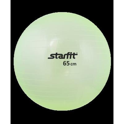 Мяч гимнастический GB-105 65 см, прозрачный, зеленый