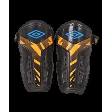Щитки футбольные Neo Valor Slip 20806U, чер/гол/оранжевый