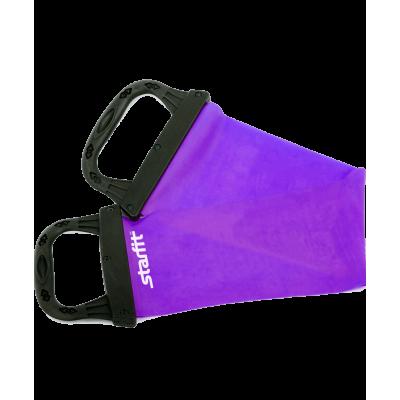 Эспандер ленточный ES-202 жесткая ручка, фиолетовый