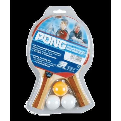 Набор для настольного тенниса Sunflex Pong 2 ракетки+3 мяча 20115