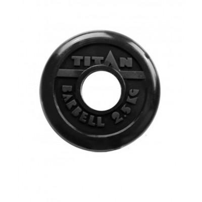 Диск обрезиненный, d=51 мм, черный, 2,5 кг