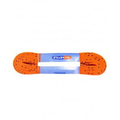 Шнурки для коньков с пропиткой W927, пара, 2,74 м, оранжевые