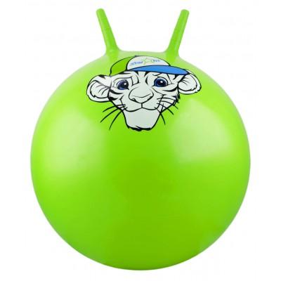 """Мяч-попрыгун """"Тигренок"""" GB-402, 55 см, с рожками, зеленый"""