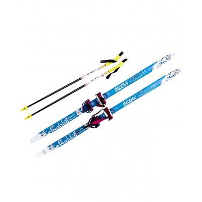 """Комплект лыжный """"Комби"""", с палками, 130 см"""