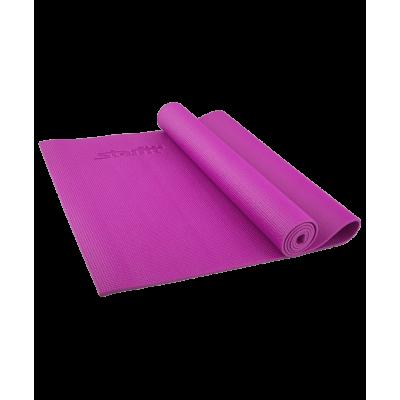 Коврик для йоги FM-101, PVC, 173x61x0,3 см, фиолетовый