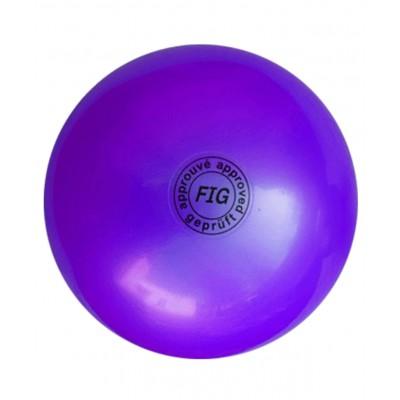 Мяч для художественной гимнастики АВ2801, 19 см, 400 г, фиолетовый