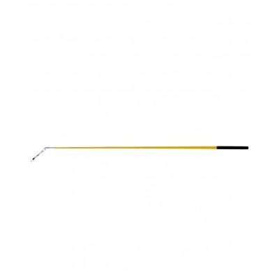 Палочка для ленты для художественной гимнастики АВ215, 56 см, с карабином, желтая