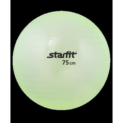 Мяч гимнастический GB-105 75 см, прозрачный, зеленый