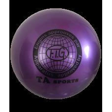 Мяч для художественной гимнастики RGB-101, 15 см, фиолетовый