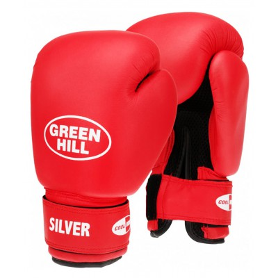 Перчатки боксерские SILVER BGS-2039, 14oz, к/з, красный