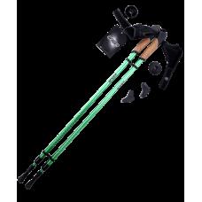 Палки для скандинавской ходьбы Rainbow, 86-140 см, 2-секционные, зеленые