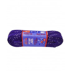 Шнурки для коньков с пропиткой W923, пара, 3,05м, фиолетовые