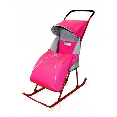 "Санки-коляска ""Тимка 2+"" Т2+, розовые"
