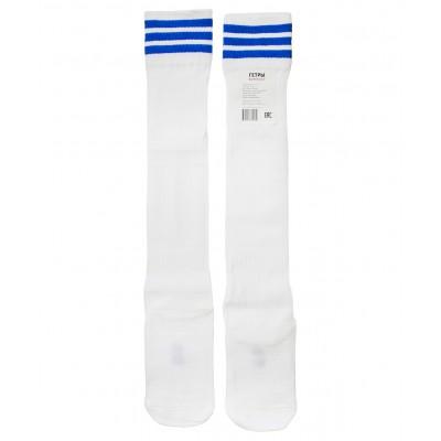 Гетры футбольные 3336, белые/синие