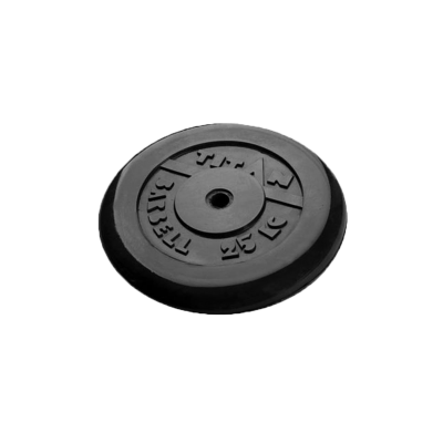 Диск обрезиненный, d=51 мм, черный, 25 кг
