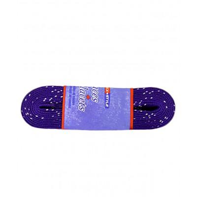 Шнурки для коньков с пропиткой W923, пара,2,44 м, фиолетовые