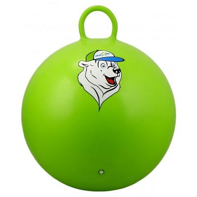 """Мяч-попрыгун """"Медвежонок""""GB-403, 65 см, с ручкой, зеленый"""