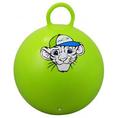 """Мяч-попрыгун """"Тигренок"""" GB-402, 55 см, с ручкой, зеленый"""