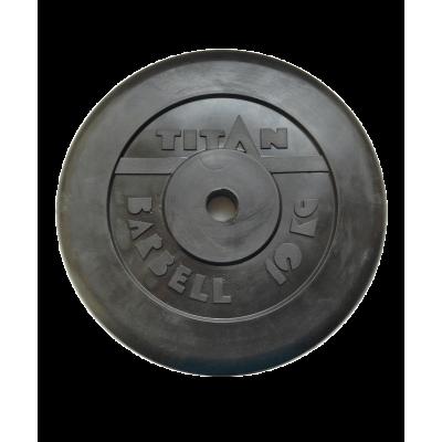 Диск обрезиненный, d=51 мм, черный, 10 кг