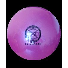 Мяч для художественной гимнастики 20 см, 400 г, фиолетовый с блестками