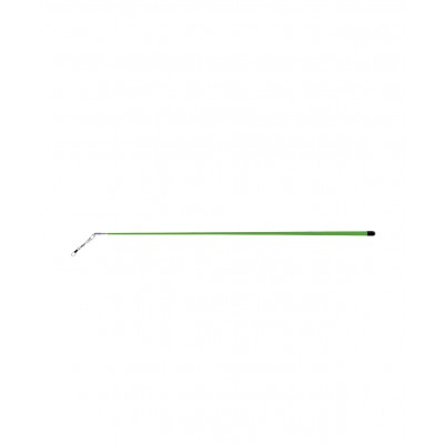 Палочка для ленты для художественной гимнастики АВ215, 56 см, с карабином, зеленая