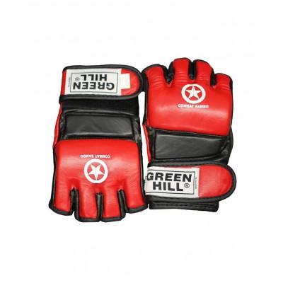 Перчатки для MMA Combat Sambo MMR-0027, к/з, красные
