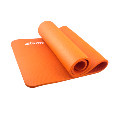 Коврик для йоги FM-301, NBR, 183x58x1,5 см, оранжевый