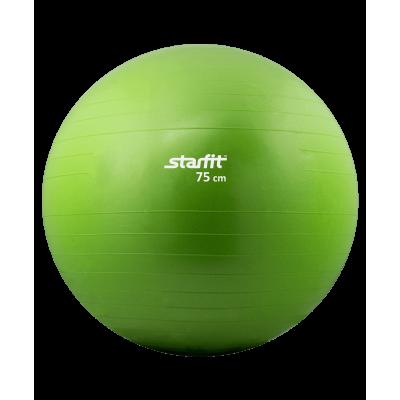 Мяч гимнастический GB-101 75 см, антивзрыв, зеленый