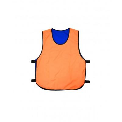 Манишка двухсторонняя универсальная, оранжево-синяя