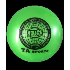 Мяч для художественной гимнастики RGB-101, 15 см, зеленый