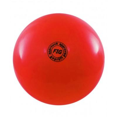 Мяч для художественной гимнастики АВ2801, 19 см, 400 г, красный